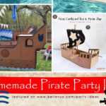 Homemade pirate party props and food
