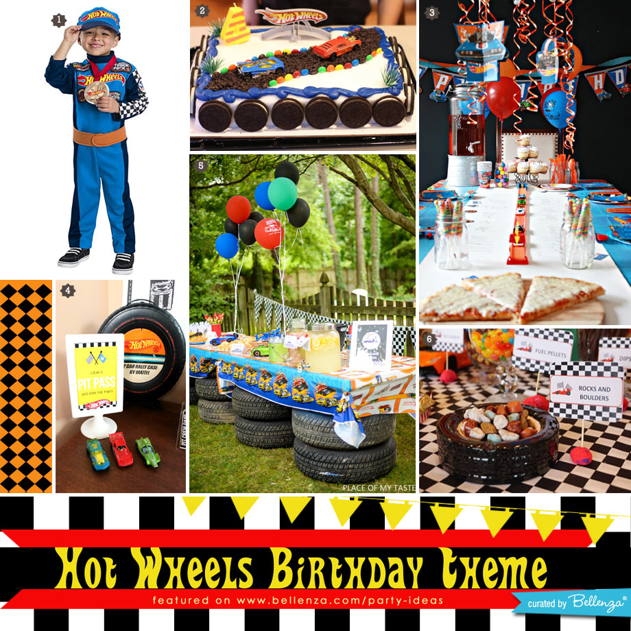 Hot Wheels Birthday Party Costume to Decor