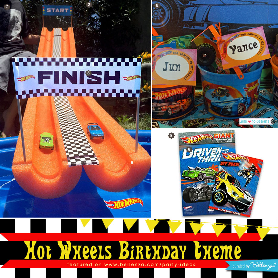 Hot Wheels Birthday Party Activities and Favors