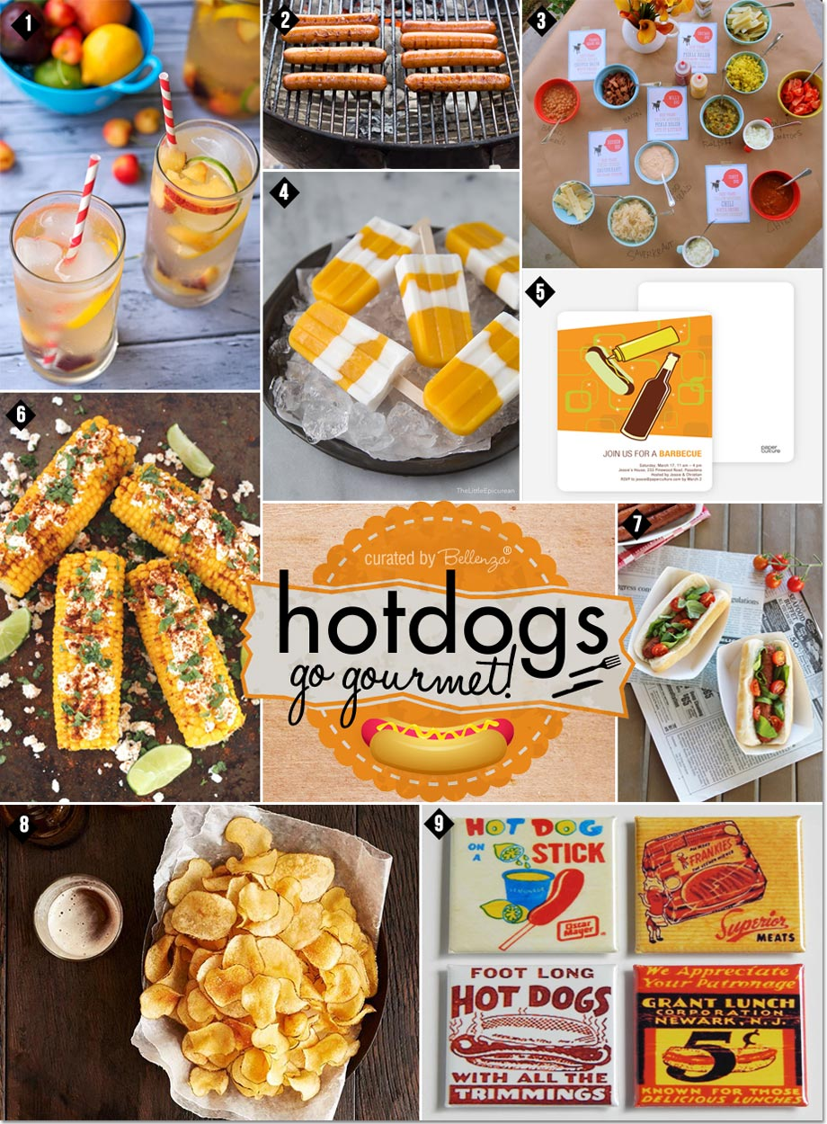 A hot dogs party with a gourmet twist! #hotdogsparty