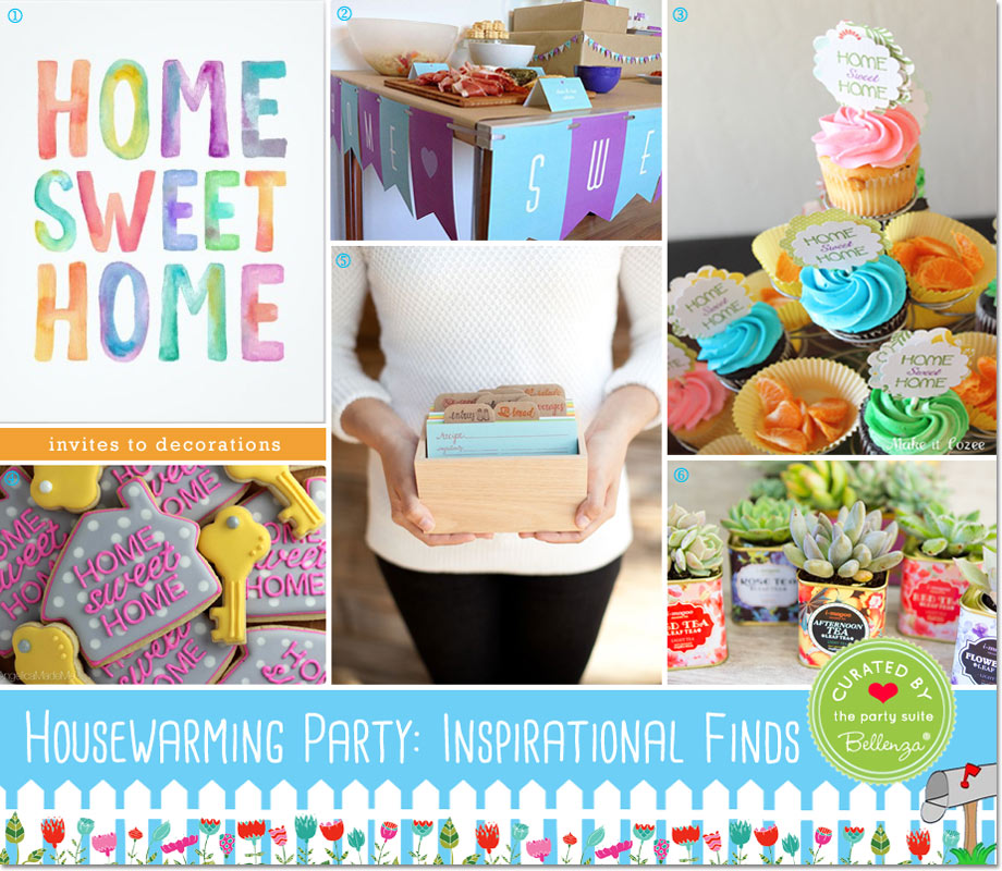 Party Finds for Planning a Housewarming Party from Printables to Decor.