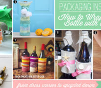 How to Wrap a Wine Bottle with Fabrics