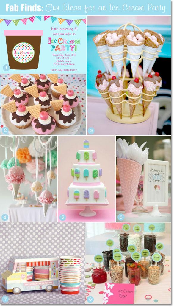 Creative Ice Cream Party Decorations