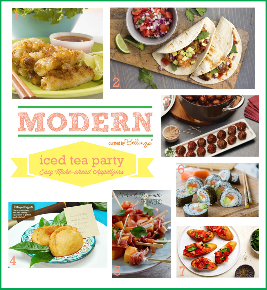 Appetizers for an iced tea summer party
