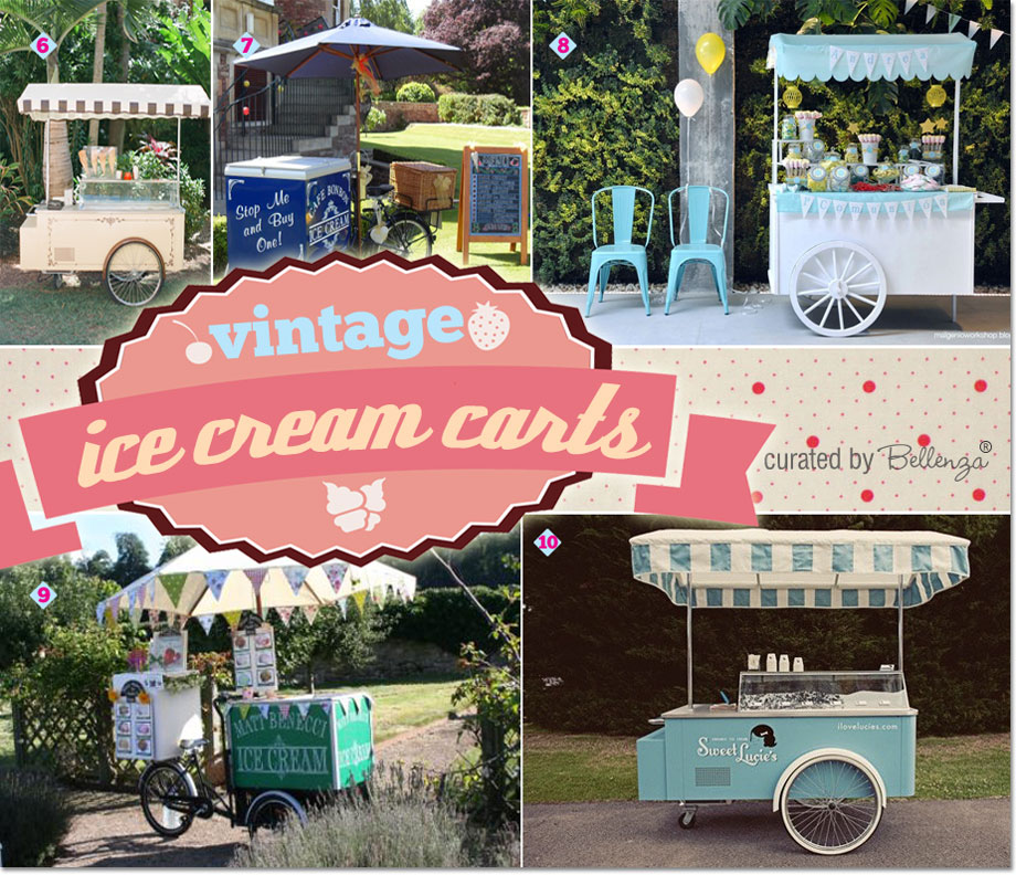 Vintage ice cream carts for summer birthdays!
