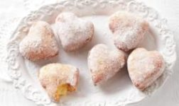 Custard-filled doughnuts via Taste.com