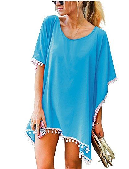 Tassel Swimsuit Bikini Cover up on Amazon