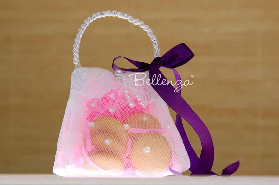 Purse favor bags for sip and see baby girl favors