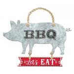BBQ Hanging Metal Sign