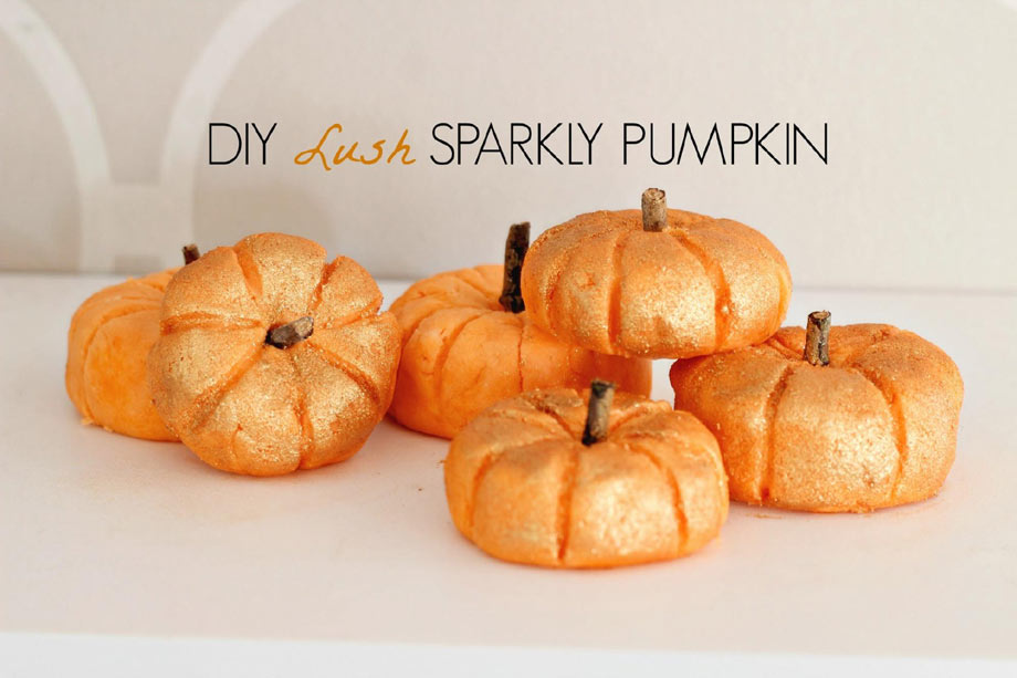 DIY Lush Sparkly Pumpkins as seen on Youtube