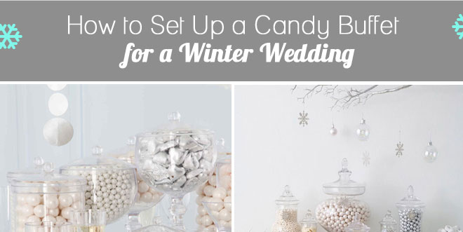 Winter Wonderland Candy Buffet Table