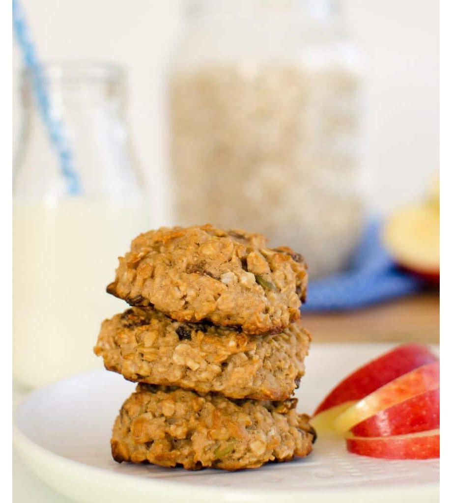 Apple, Oat, and Raisin Cookies