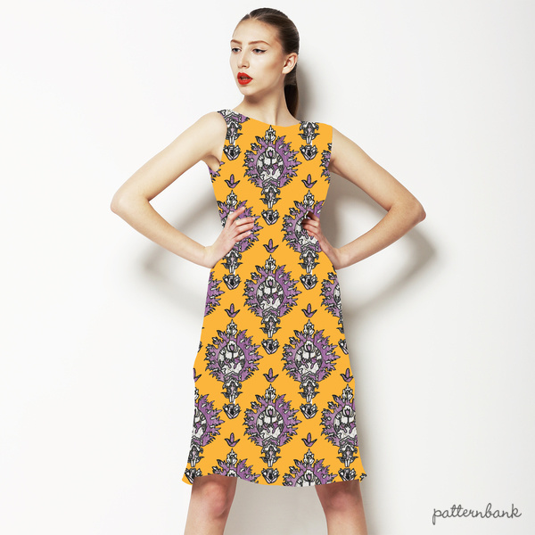 Moroccan Modern Geo Print dress by Jessica Russel Flint (via Pattern Bank)