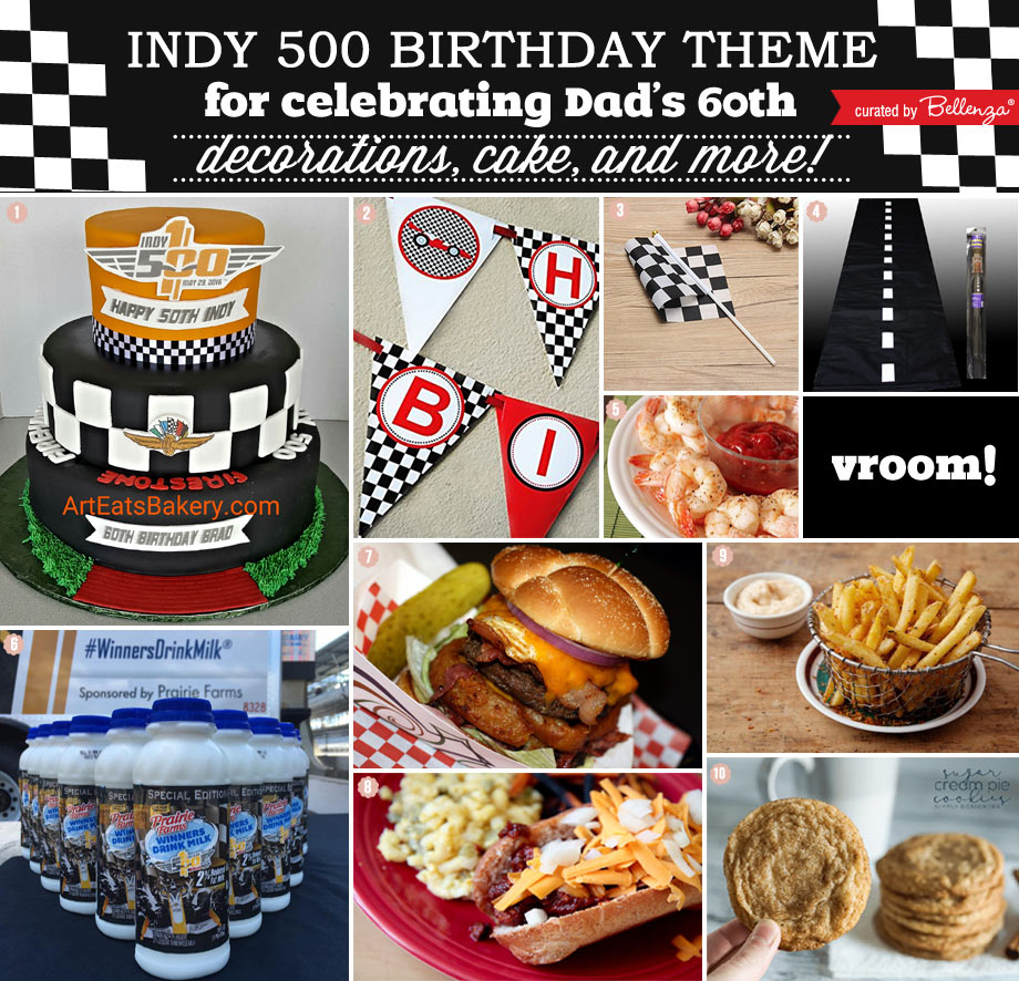 An Indy 500 Race Themed Birthday Celebration for Dad's 60th.