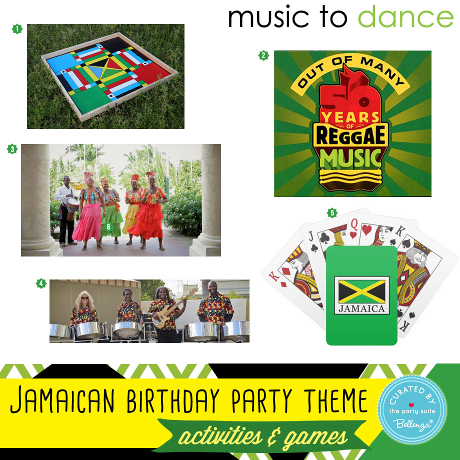 Jamaican party activities and games for adults to kids.