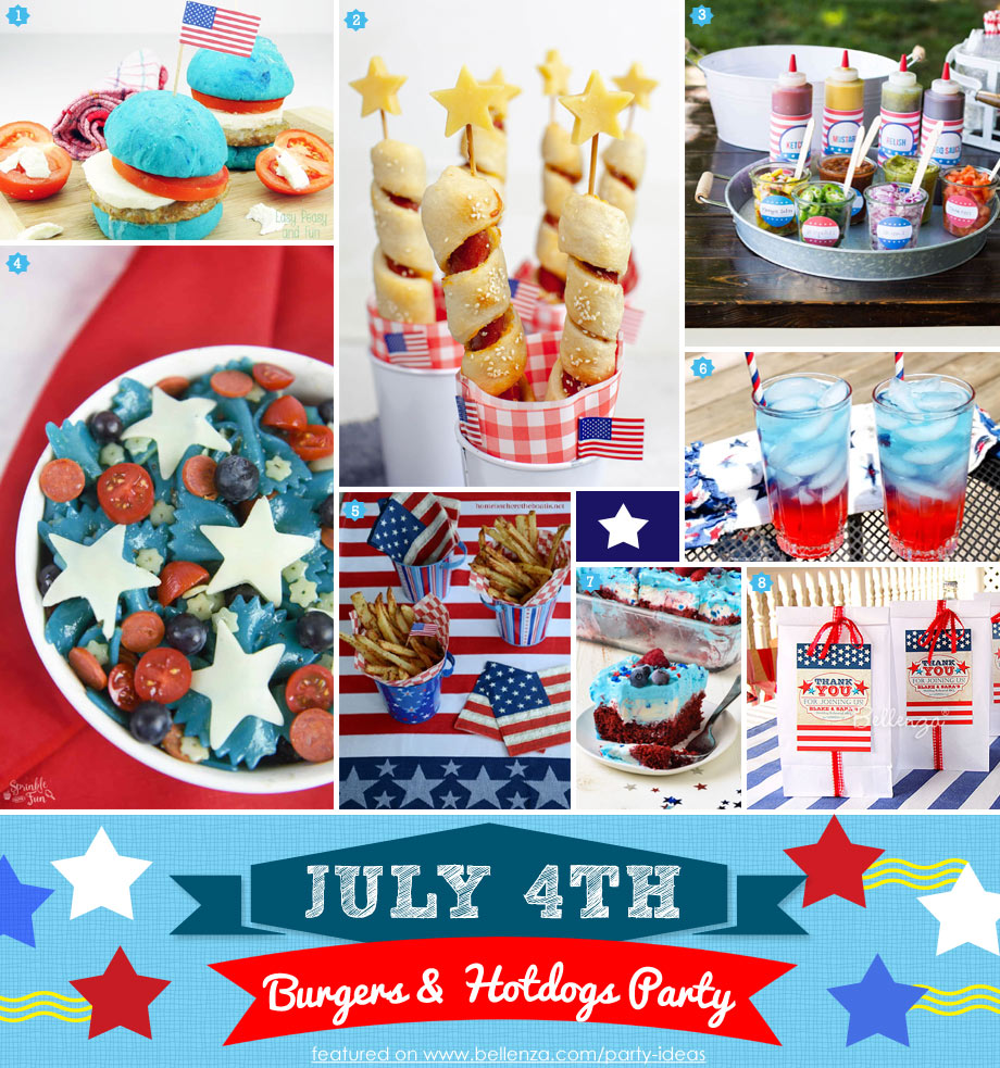 4th of July Burgers and Hotdogs Party Ideas
