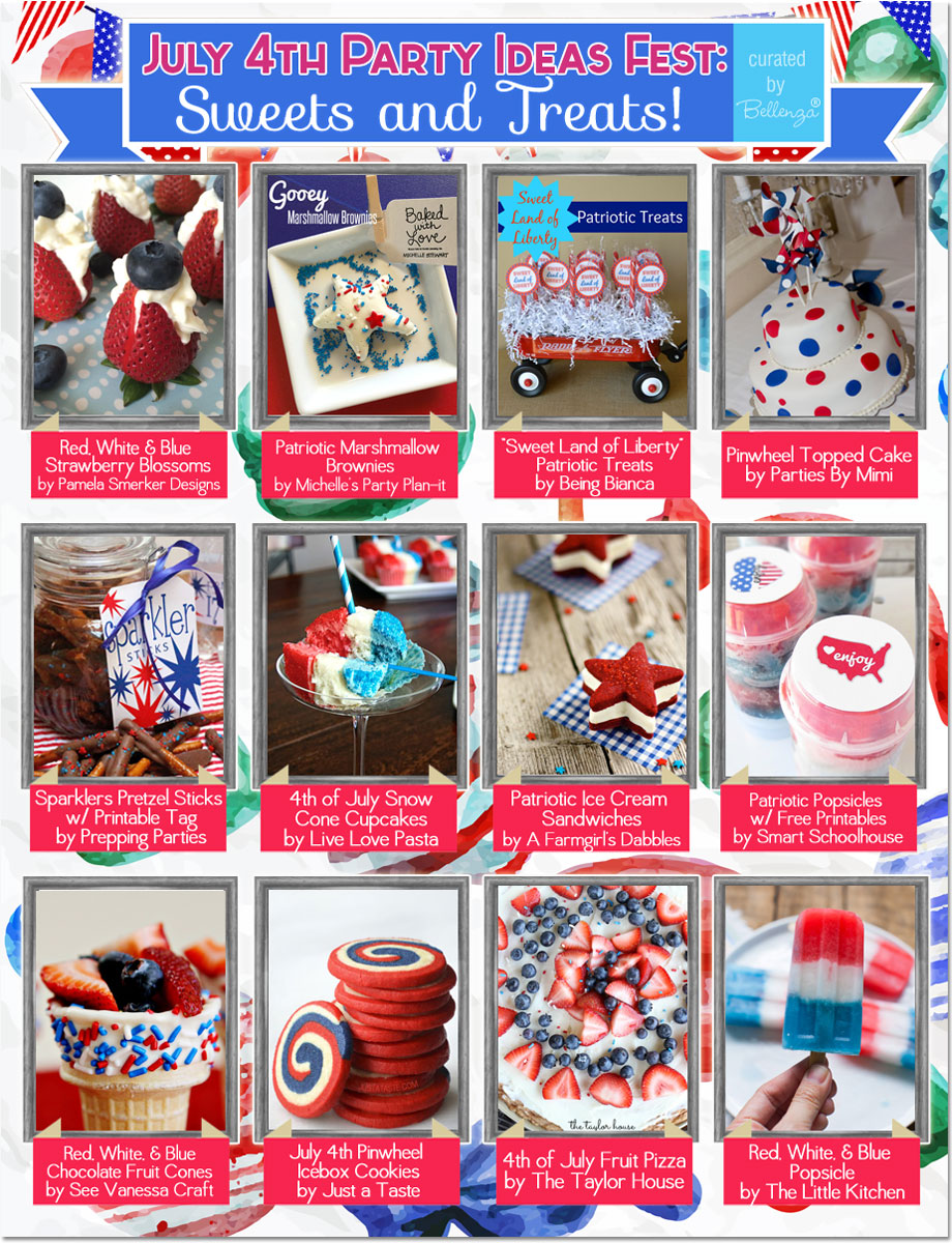 12 delicious recipes for July 4th sweets and treats! #july4sweets #july4treats