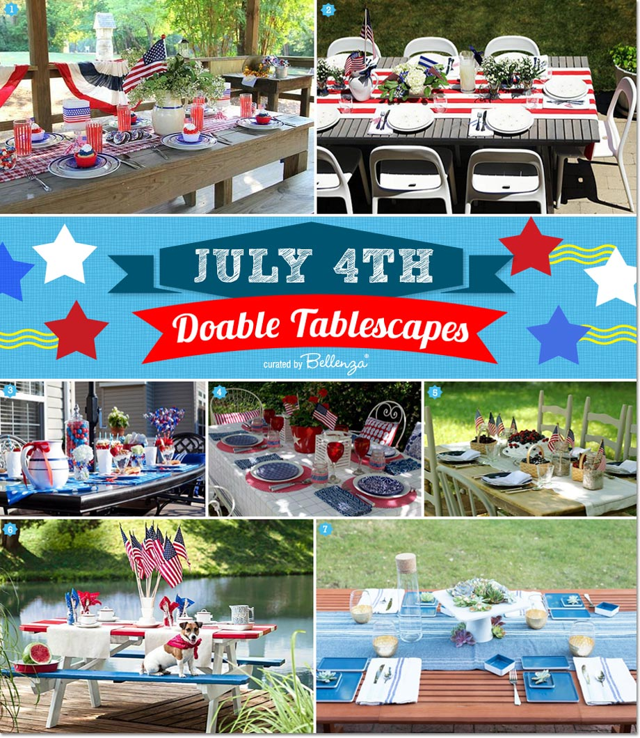 Simple Table Styling Tips for a July 4th Outdoor Celebration