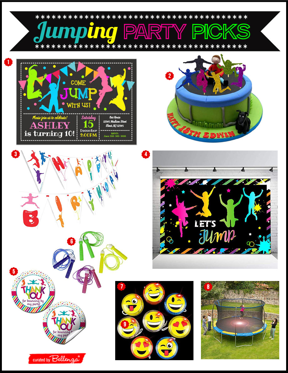 JUMP THEMED BIRTHDAY PARTY IDEAS