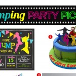 Trampoline or jumping themed backyard party ideas