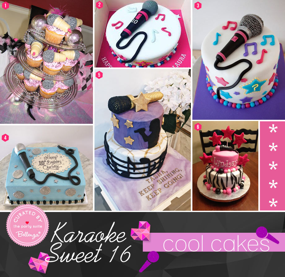 Karaoke Party Cakes for a Sweet 16
