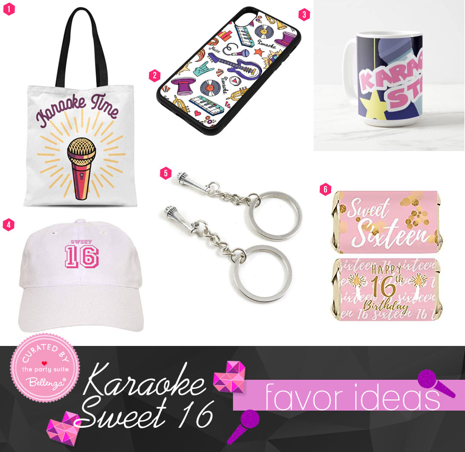 Karaoke Party Favor Bags and Fillers