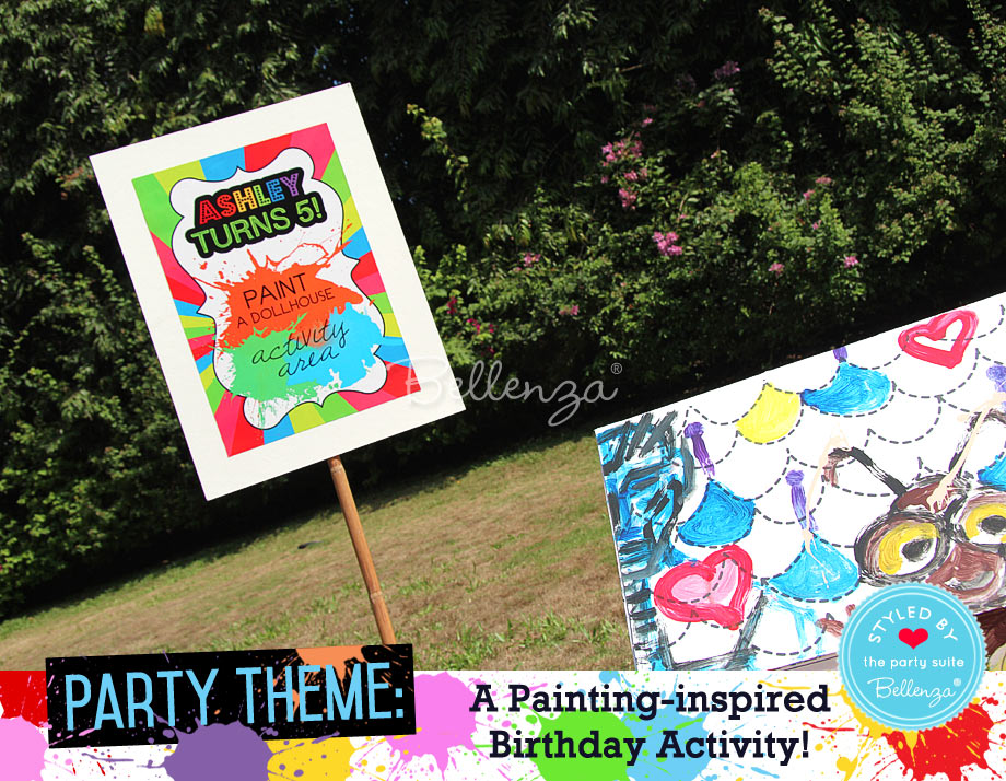 House painting party signage
