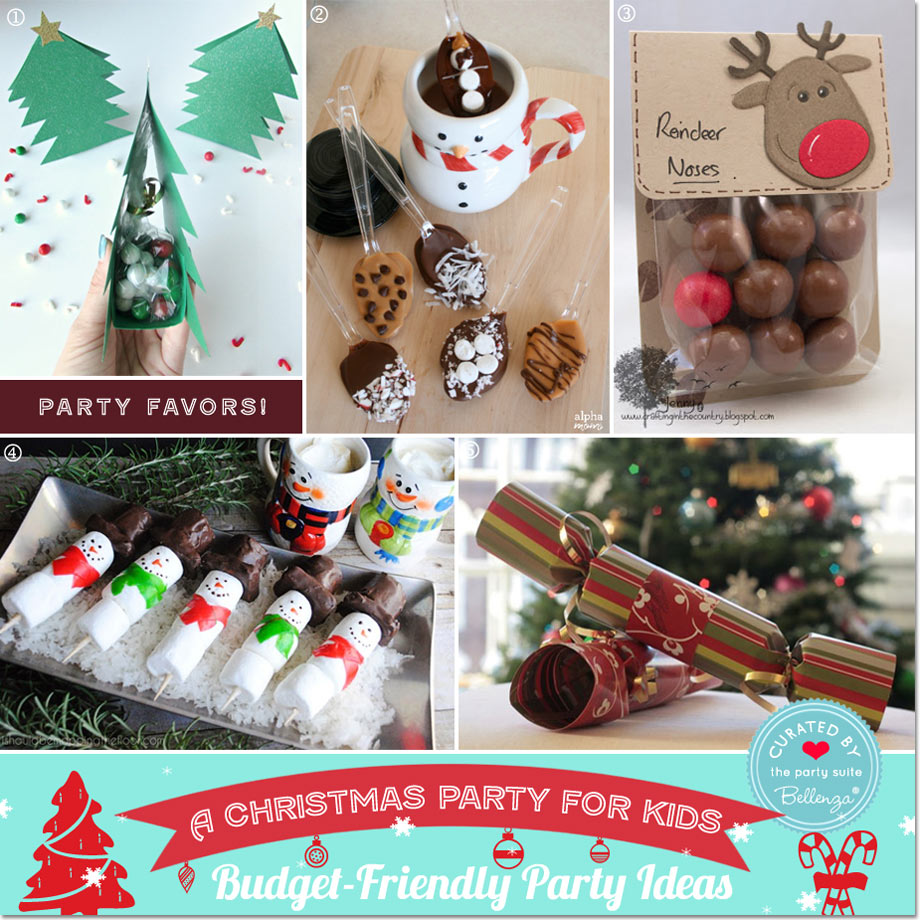 Budget-friendly Kids Christmas Favors // Party Guide featured by Bellenza