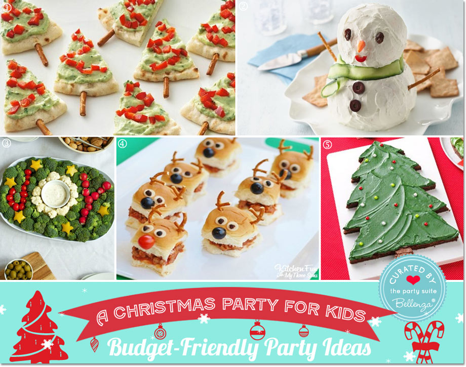 Budget-friendly Kids Christmas Foods // Party Guide featured by Bellenza