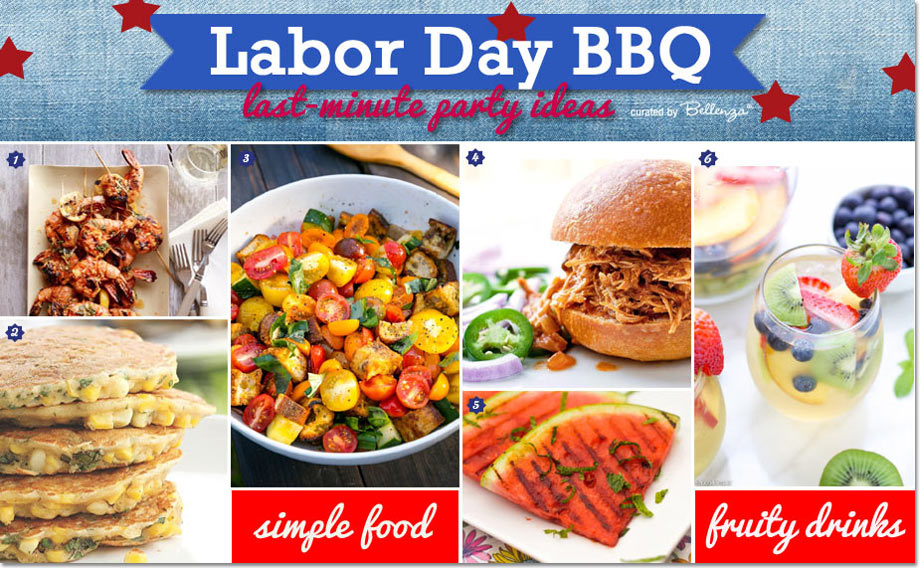 Labor Day BBQ Food and Drinks