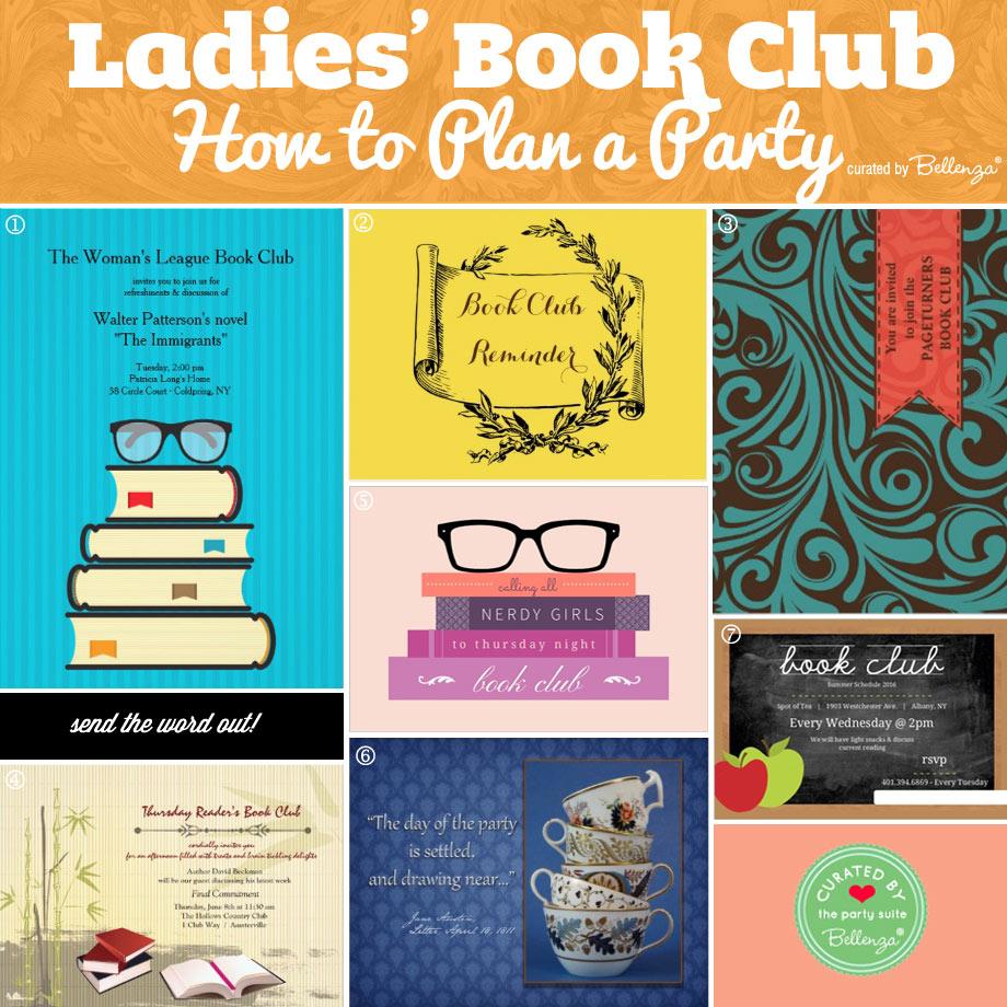 ladies book club invitations