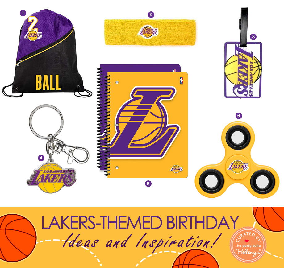 Lakers Birthday Party Theme Party Favor Ideas for Loot Bags
