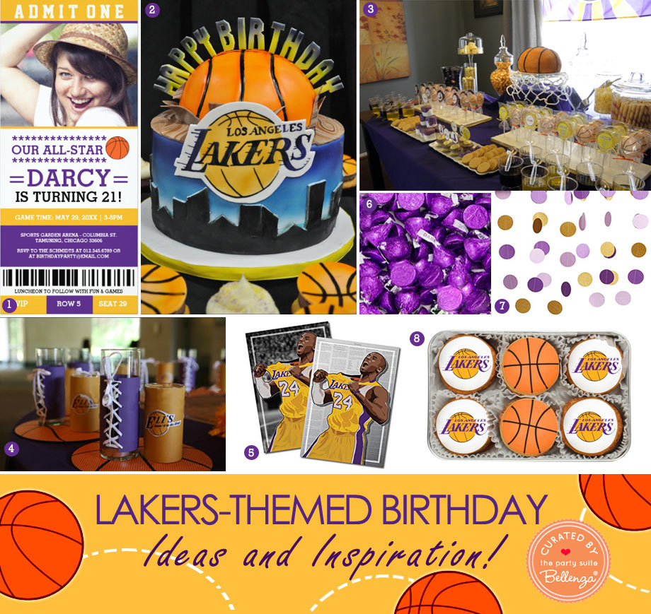 Lakers Birthday Party Theme Party Decorations to Sweet Treats