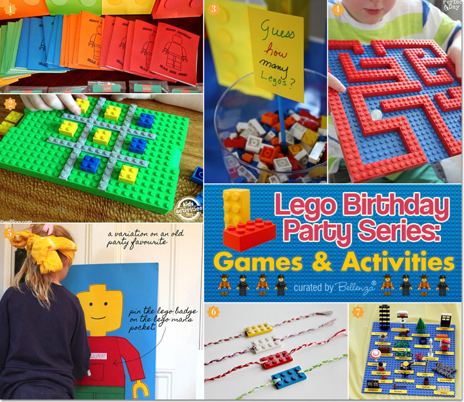 Lego Themed Games and Activities that are Fun and Easy as featured on the Party Suite at Bellenza. #legopartytheme #legopartygames