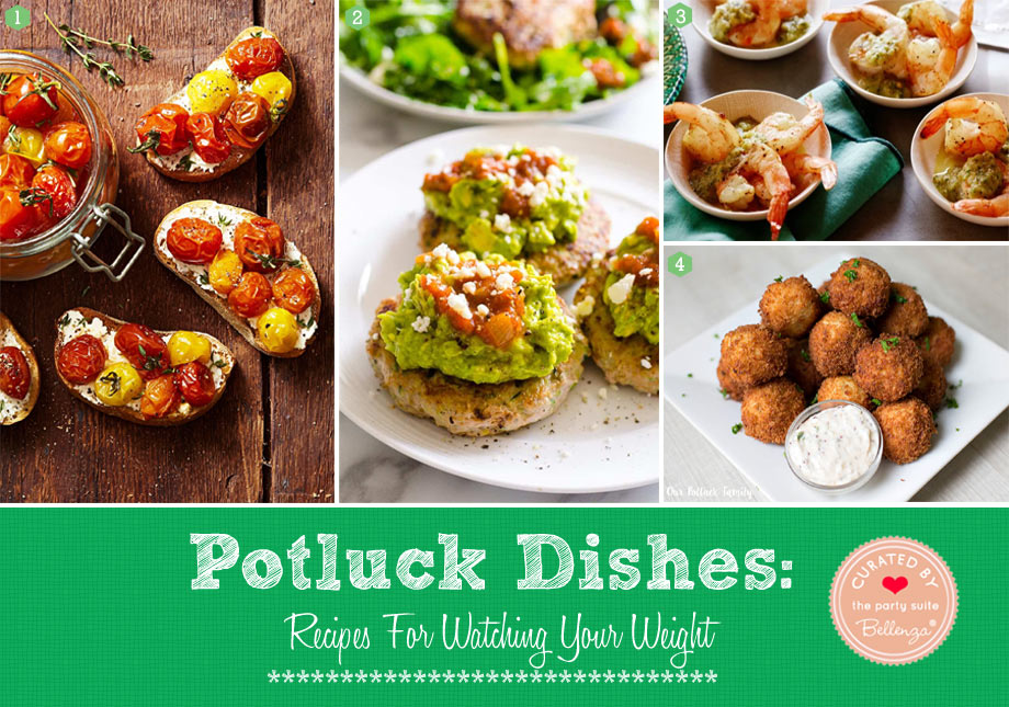 Light appetizers to make for a potluck using vegetables and fish