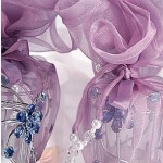 Votive candles in lilac wraps