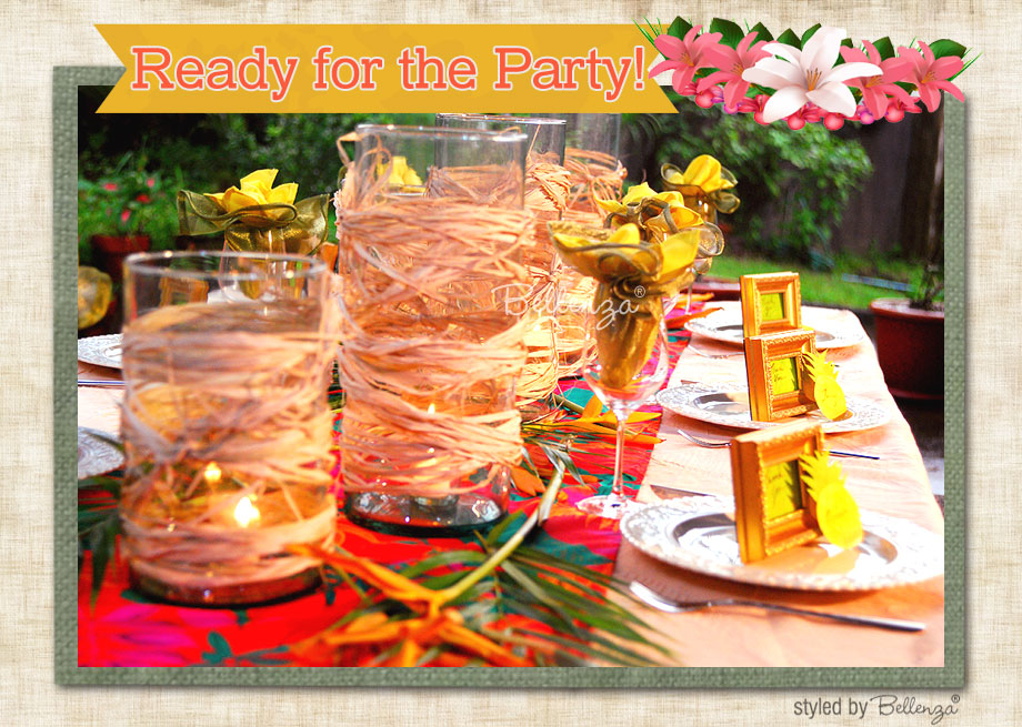 Luau themed centerpieces