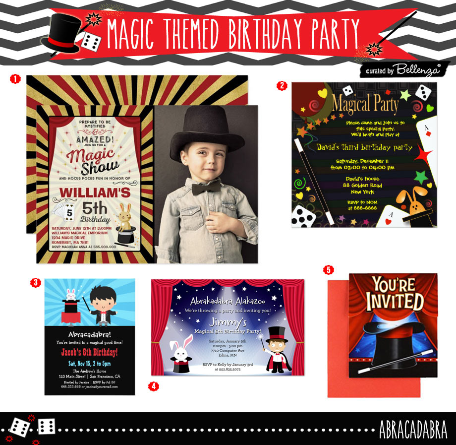 Budget Friendly Magic Themed Birthday Party