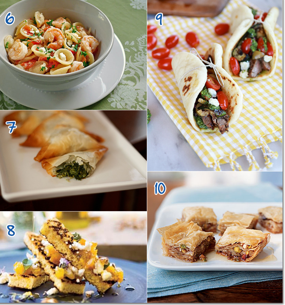 Mediterranean recipe ideas for a summer party from appetizers to desserts