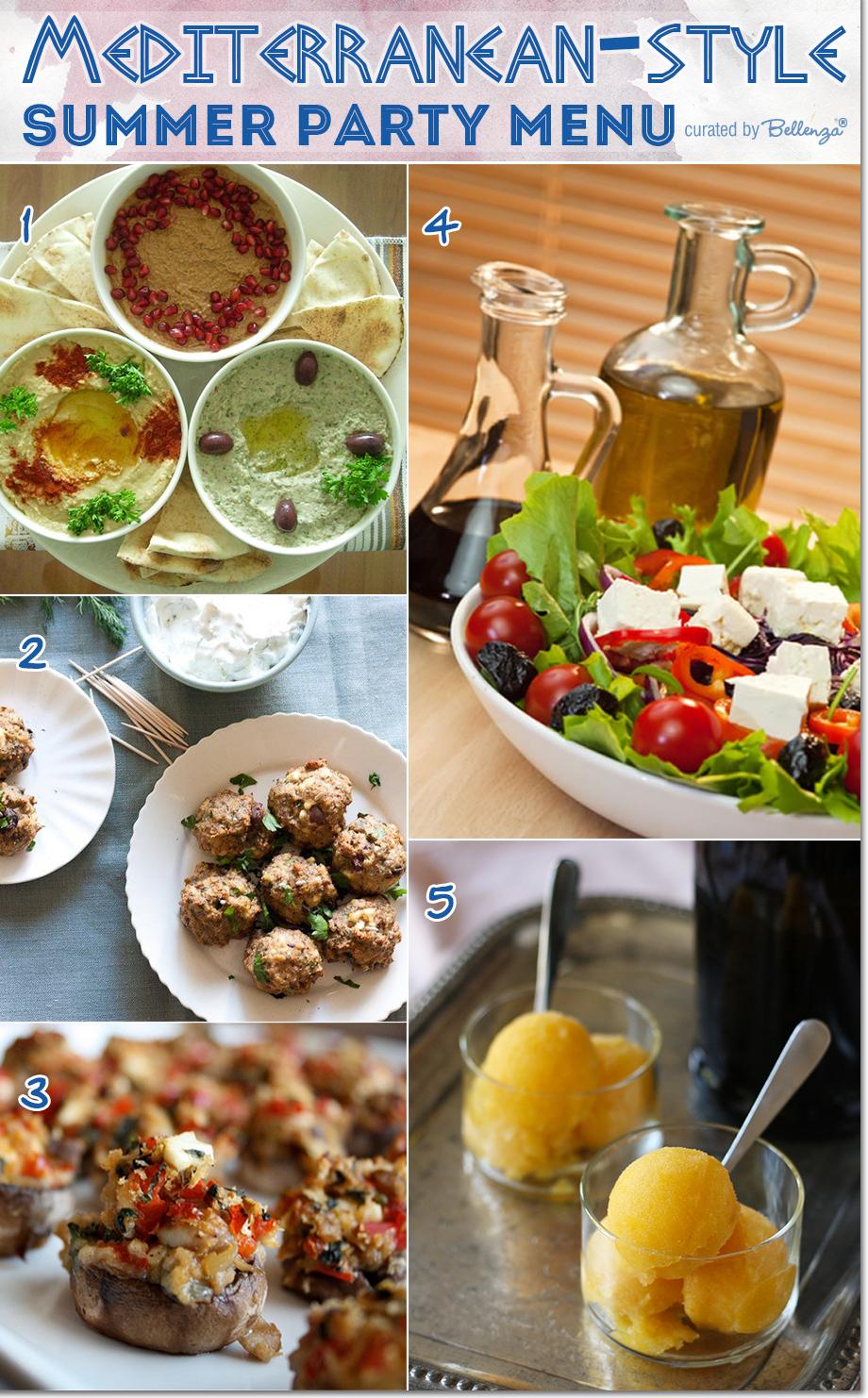 Mediterranean menu ideas from pasta to desserts