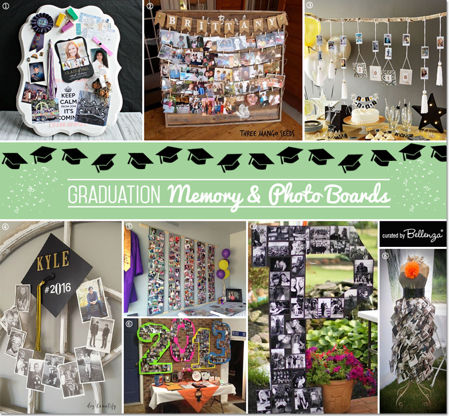 Memory and Photo Board Ideas for High School Grads