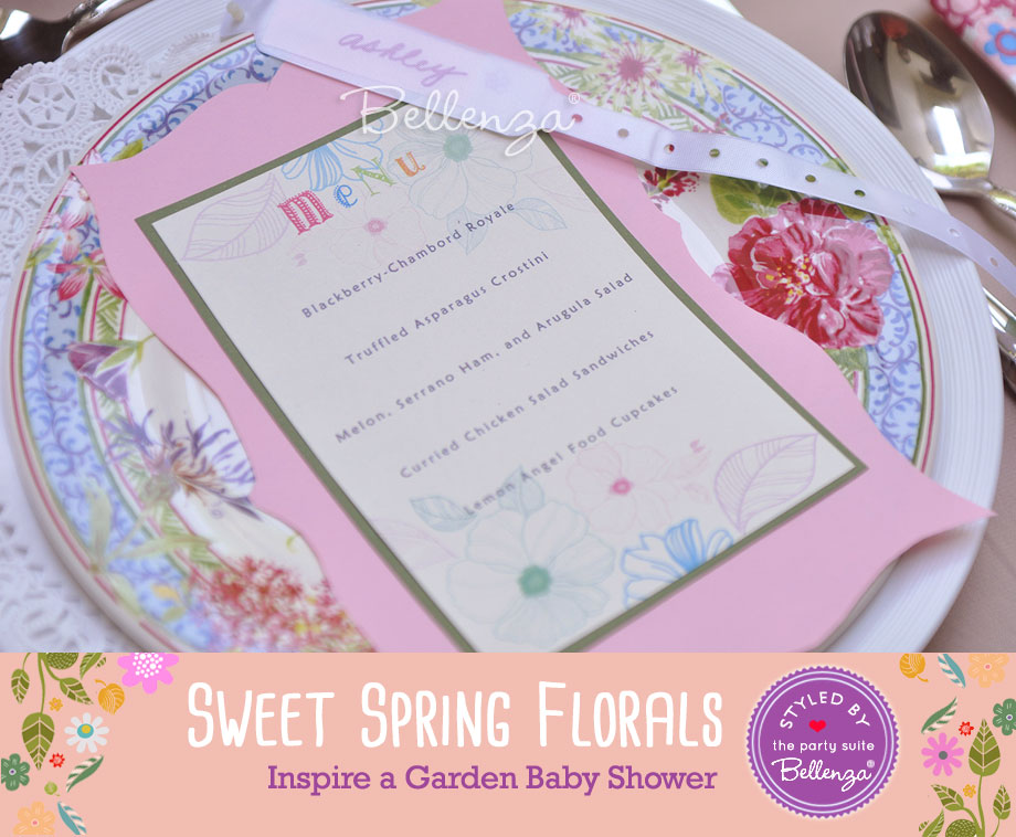 Spring menu for baby shower | styled by Bellenza