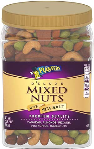 Planters Deluxe Salted Mixed Nuts