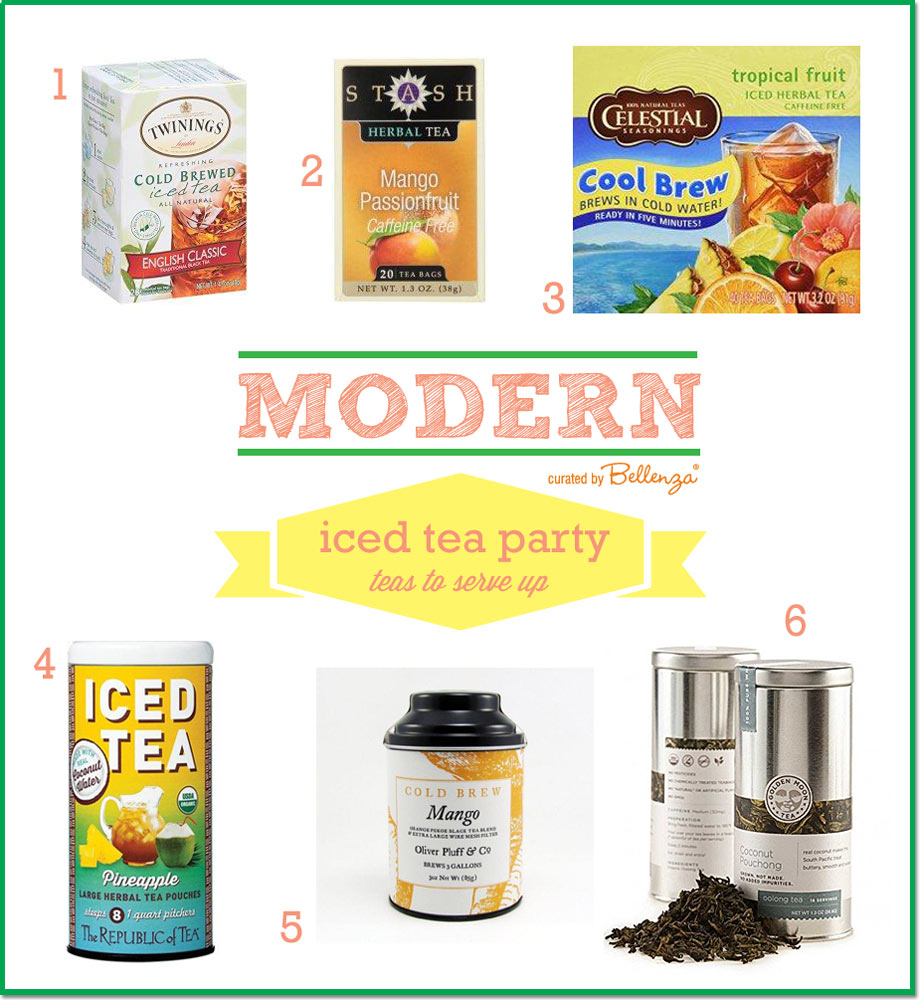 Modern iced teas to serve at a summer tea party