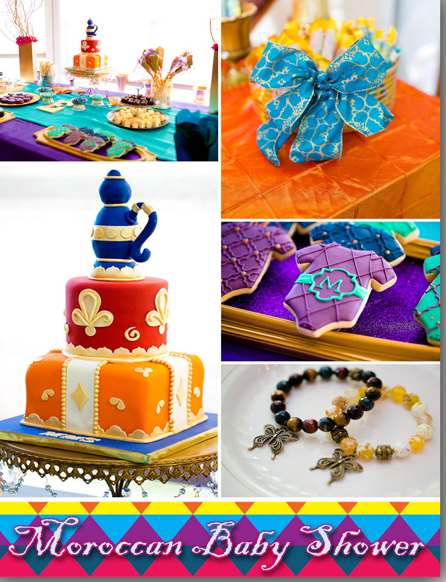 Moroccan baby shower favors and treats