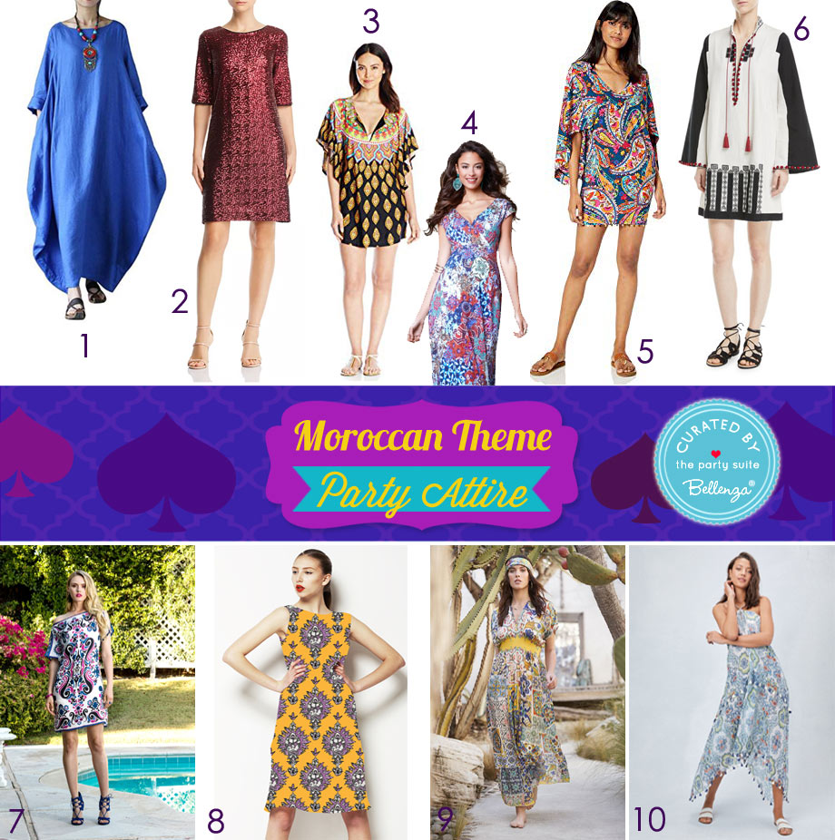 Moroccan-inspired Party Attire for the Lady Host or Guest