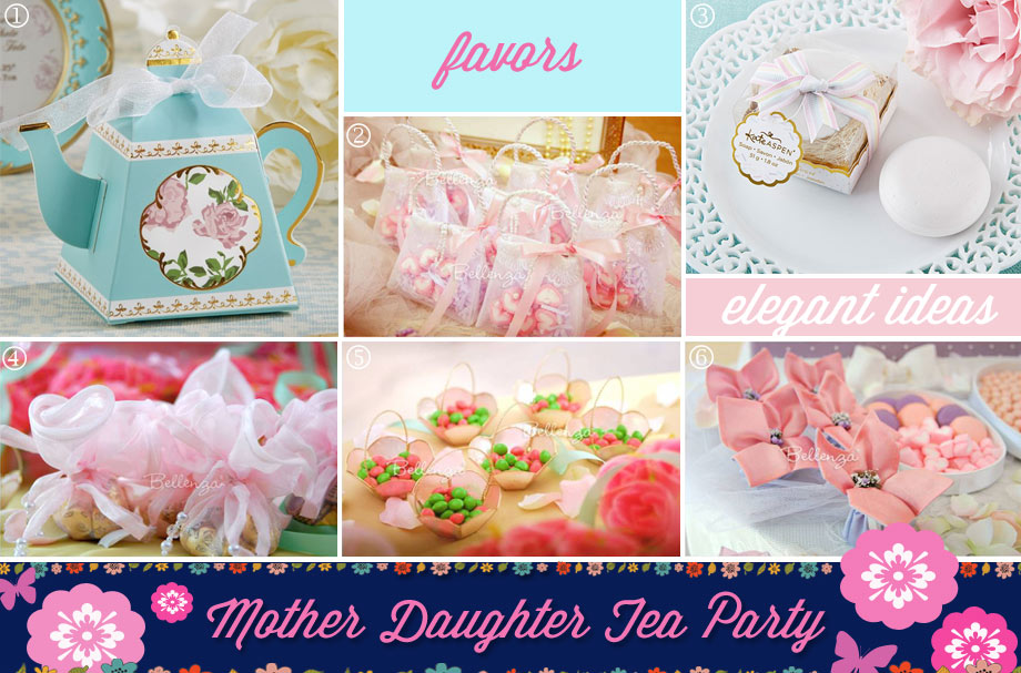 Mommy and me tea party favors