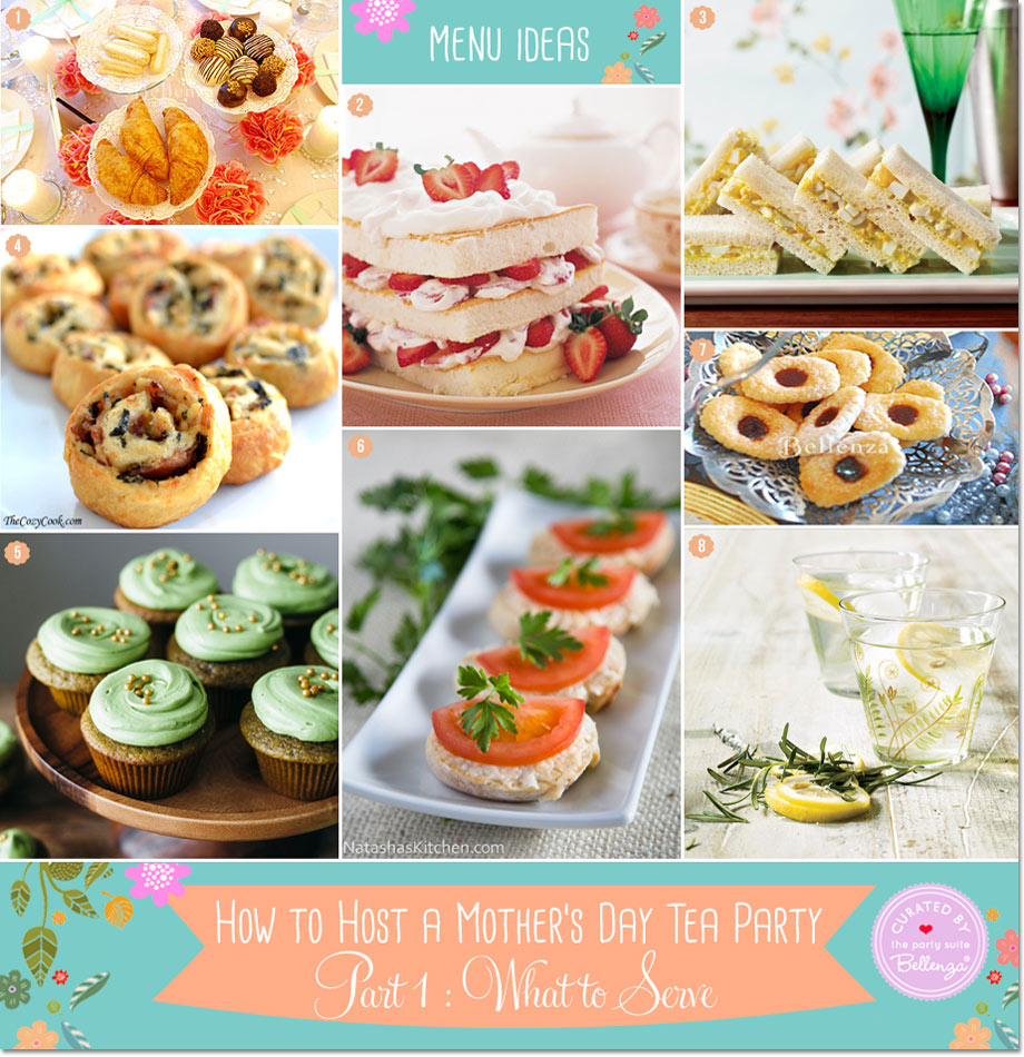Menu Ideas for Mother's Day Tea Party from Tea Sandwiches to Tarts
