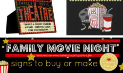 Family Movie Night Signs to Make or Buy