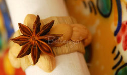Raffia napkin ring star by Bellenza